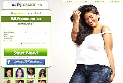 BBWpassion.ca – Where Big Beautiful Women meets their admirers
