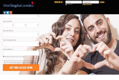 DeafSinglesCanada.ca – Helping deaf singles meet each other for love & romance