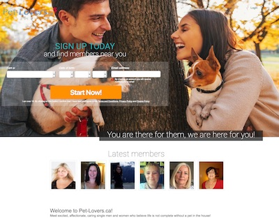 Pet-Lovers.ca The Leading Online Dating Service for Pet Lovers
