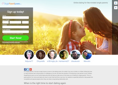 Dating with kids? Join SingleParentLovers.ca to Meet Single Mum & Dad